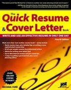 The Quick Resume and Cover Letter Book, Fourth Edition 4th edition 9781593575175 1593575173