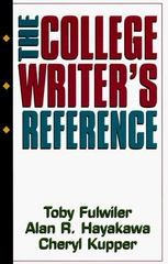 The College Writer's Reference 0 9780133637229 0133637220
