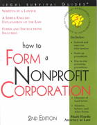 How to Form a Nonprofit Corporation 2nd edition 9781572482319 1572482311