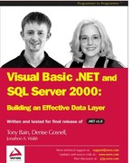 VB.NET and SQL Server 2000 0 9781861007056 1861007051