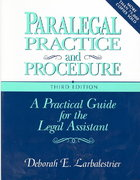 Paralegal Practice & Procedure 3rd edition 9780131085640 0131085646