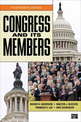 Congress and Its Members 14th Edition 9781452239958 1452239959