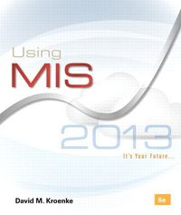 Using MIS 6th Edition 9780133029673 0133029670