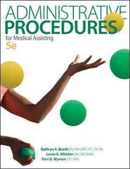 Administrative Procedures for Medical Assisting 5th Edition 9780077656072 0077656075