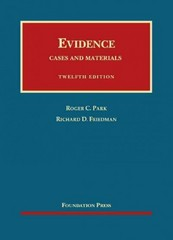 Evidence 12th Edition 9781609301385 1609301382