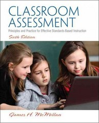 Classroom Assessment 6th Edition 9780133119428 0133119424