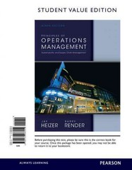 Principles of Operations Management, Student Value Edition 9th Edition 9780132968454 0132968452