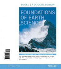 Foundations of Earth Science, Books a la Carte Plus MasteringGeology with eText -- Access Card Package 7th edition 9780321812469 0321812468