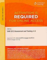 SAM 2013 Assessment and Training v1.0 Multi-Term Printed Access Card 1st Edition 9781285458502 1285458508