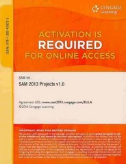 SAM 2013 Projects v1.0 Multi-Term Printed Access Card 1st Edition 9781285458533 1285458532