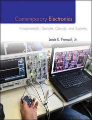 Contemporary Electronics: Fundamentals, Devices, Circuits, and Systems 1st Edition 9780073373805 007337380X