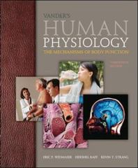 Vander's Human Physiology 13th Edition 9780073378305 0073378305