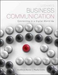 Lesikar's Business Communication 13th Edition 9780073403212 0073403210
