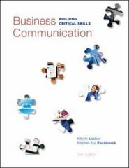 Business Communication 6th Edition 9780073403267 0073403261