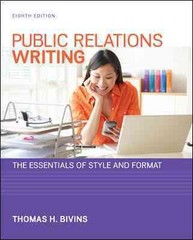 Public Relations Writing 8th Edition 9780073526232 0073526231