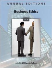 Annual Editions: Business Ethics 13/14 25th Edition 9780073528793 007352879X