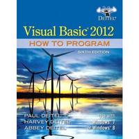 Visual Basic 2012 How to Program 6th Edition 9780133406955 0133406954