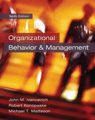 Organizational Behavior and Management 10th Edition 9780078029462 0078029465