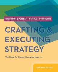 Crafting & Executing Strategy 19th edition 9780078029509 0078029503