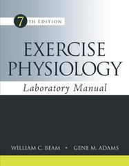 Exercise Physiology Laboratory Manual 7th Edition 9780078022654 0078022657