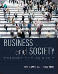 Business and Society 14th edition 9780078029479 0078029473