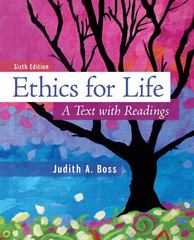 Ethics For Life 6th Edition 9780078038334 0078038332