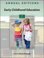 Annual Editions: Early Childhood Education 13/14 34th Edition 9780078136054 0078136059