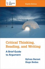 Critical Thinking, Reading, and Writing 8th Edition 9781457652011 1457652013