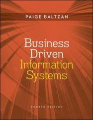 Business Driven Information Systems 4th Edition 9780073376899 0073376892