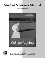 Students Solutions Manual For College Algebra 1st Edition 9780077538675 0077538676