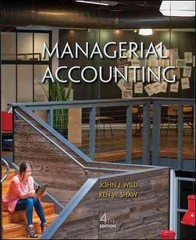 Managerial Accounting 4th Edition 9780078025686 0078025680
