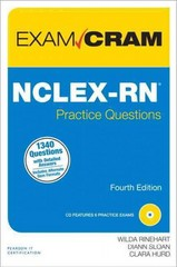 NCLEX-RN Practice Questions Exam Cram 4th Edition 9780789751072 0789751070