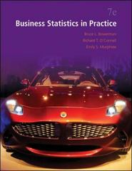 Business Statistics in Practice 7th Edition 9780073521497 0073521493