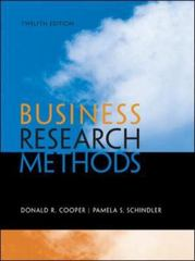 Business Research Methods 12th Edition 9780073521503 0073521507