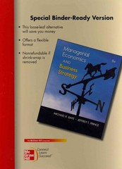 Loose-Leaf Managerial Economics and Business Strategy 8th edition 9780077413811 0077413814