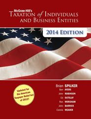 McGraw-Hill's Taxation of Individuals and Business Entities 2014 Edition 5th Edition 9780077862350 007786235X