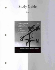 Study Guide to accompany Managerial Economics & Business Strategy 8th Edition 9781259236822 125923682X