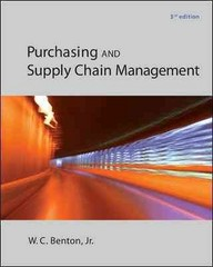 Purchasing and Supply Chain Management 1st Edition 9780078024115 0078024110
