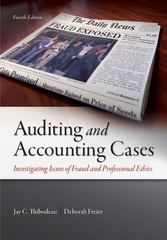 Auditing and Accounting Cases 4th Edition 9780078025563 0078025567