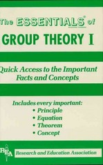 Group Theory I Essentials 1st Edition 9780738672151 0738672157