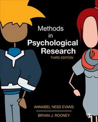 Methods in Psychological Research 3rd Edition 9781452261041 1452261040