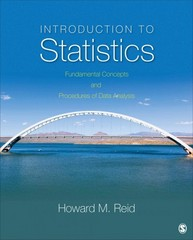 Introduction to Statistics 1st Edition 9781483301570 1483301575