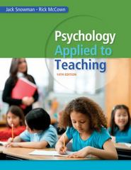 Psychology Applied to Teaching 14th edition 9781285734552 1285734556