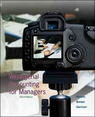 Managerial Accounting for Managers with Connect Plus 3rd Edition 9780077729851 0077729854