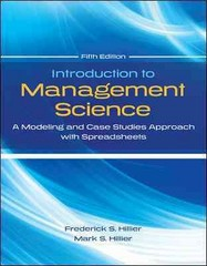 Introduction to Management Science with Student CD and Risk Solver Platform Access Card 5th Edition 9780077825560 007782556X