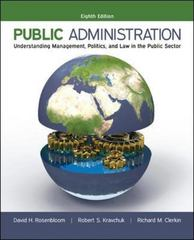 Public Administration 8th Edition 9780073379159 0073379158
