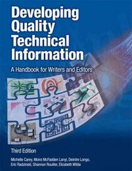 Developing Quality Technical Information 3rd Edition 9780133118971 0133118975