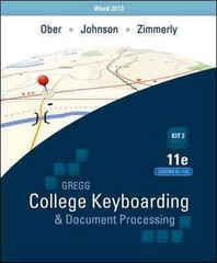 Gregg College Keyboarding & Document Processing 11th Edition 9780077819262 0077819268