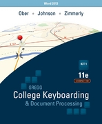 Gregg College Keyboarding & Document Processing Word 2013 Kit 1: Lessons 1-60 11th Edition 9780077824631 0077824636
