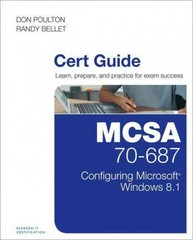 MCSA 70-687 Cert Guide 1st Edition 9780789748799 0789748797